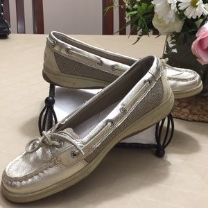 Sperry Top-spider women's size71/2 in gold/tan